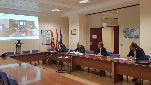El consejero de Agricutura, Ganadería y Medio Ambiente, Joaquín Olona, preside el Consejo de Administración de SARGA