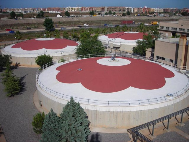 Digestores de la depuradora de Quart-Benger (Valencia)