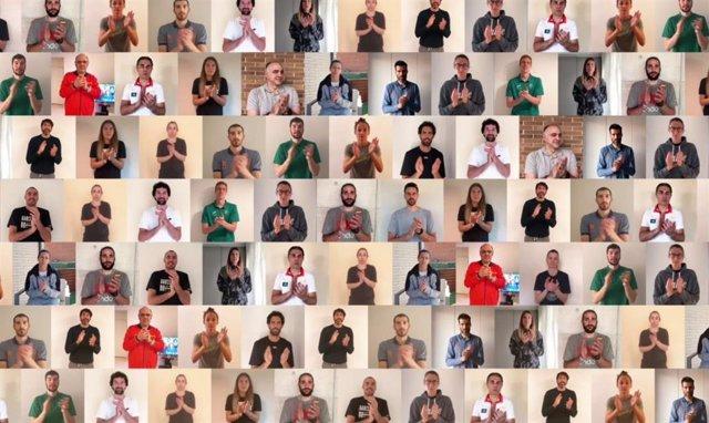 El baloncesto español se une para aplaudir a los trabajadores que luchan contra la COVID-19.