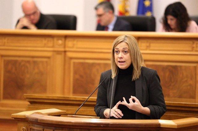 La portavoz de Cs, Carmen Picazo, en las Cortes.