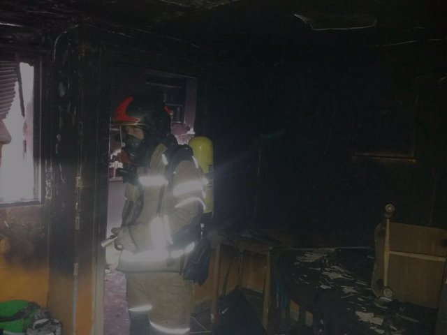 Bomberos sofocan un incendio en una vivienda de Calatayud