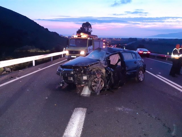 Accidente de tráfico en la N-340 a la altura de Tarifa (Cádiz)