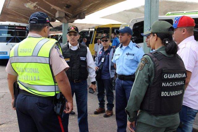 Policía Nacional Bolivariana y Guardia Nacional Bolivariana en Táchira