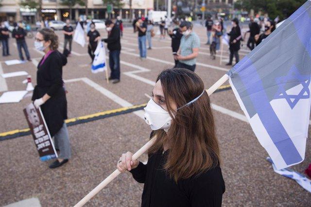 Manifestación contra el bloqueo político en Israel