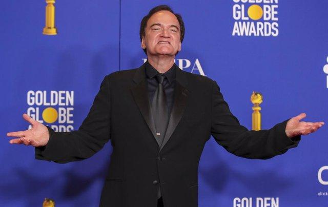 Quentin Tarantino en la gala de los Globos de Oro