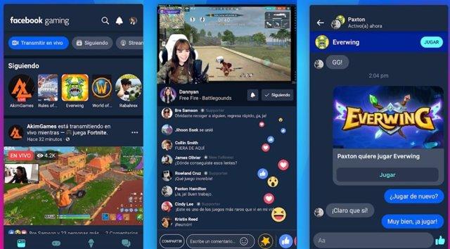 Facebook lanza su aplicación Gaming para 'streaming' de videojuegos desde el móv
