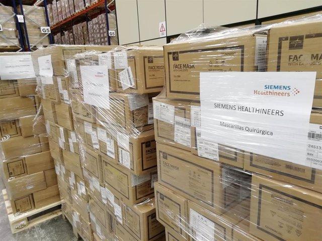 Siemens Healthineers dona al Ministerio de Sanidad más de 250.000 mascarillas
