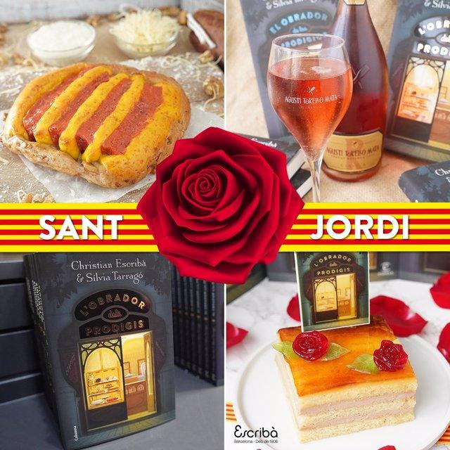La pastisseria barcelonina Escribà celebrarà Sant Jordi enviant llibres i roses al costat del tradicional Pa de Sant Jordi