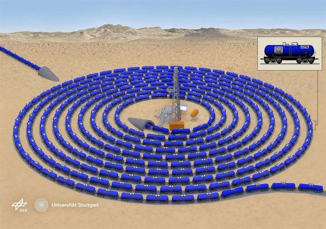 Almacenamiento de carbono cerca del sitio donde se produce