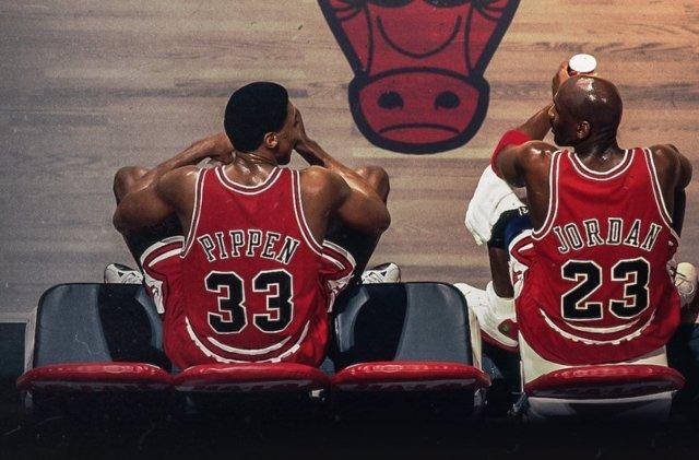 Pippen y Jordan en The Last Dance, la serie documental de Netflix