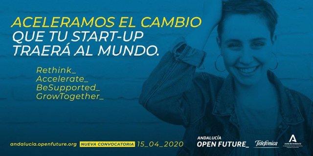 Imagen de la iniciativa Andalucía Open Future de la Consejería de Economía y Telefónica.