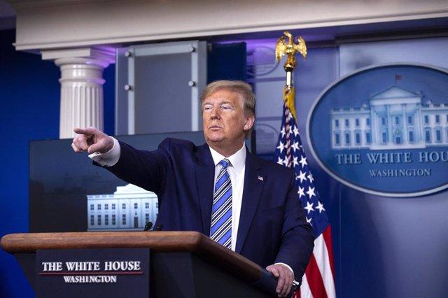 El presidente de EEUU, Donald Trump, durante una rueda de prensa en la Casa Blanca