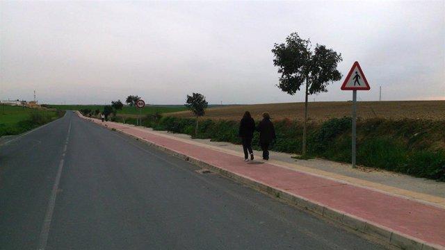 Imagen de archivo del Paseo de Escacena del Campo.