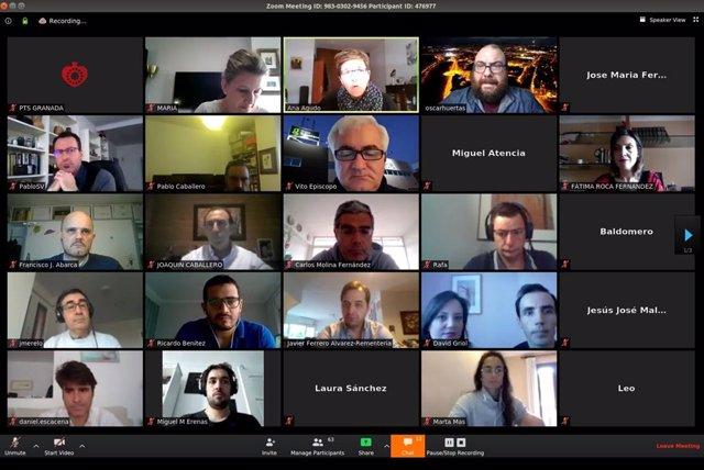 Tercer encuentro online organizado por el PTS y OnGranada Tech City