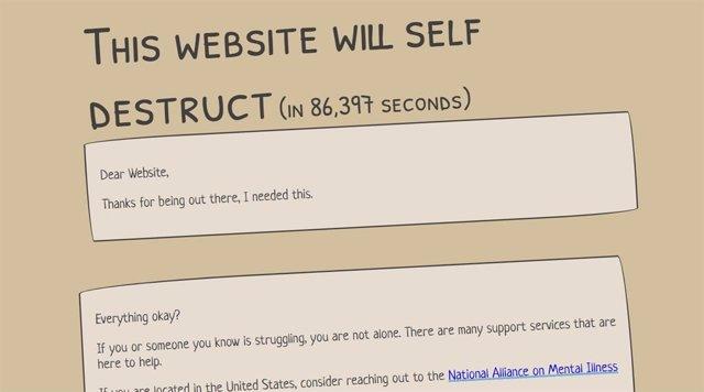 Crean una página web que se autodestruirá si nadie escribe en 24 horas