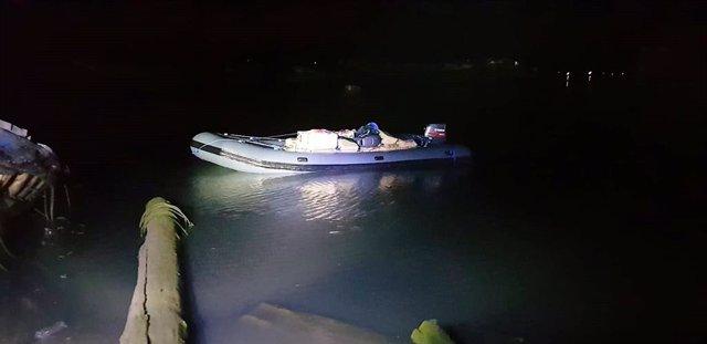 Imagen de archivo de una embarcación con droga intervenida