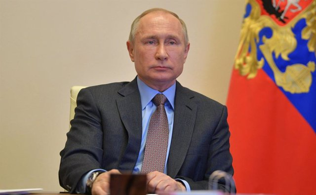 Russian President Putin holds video conference in Moscow
