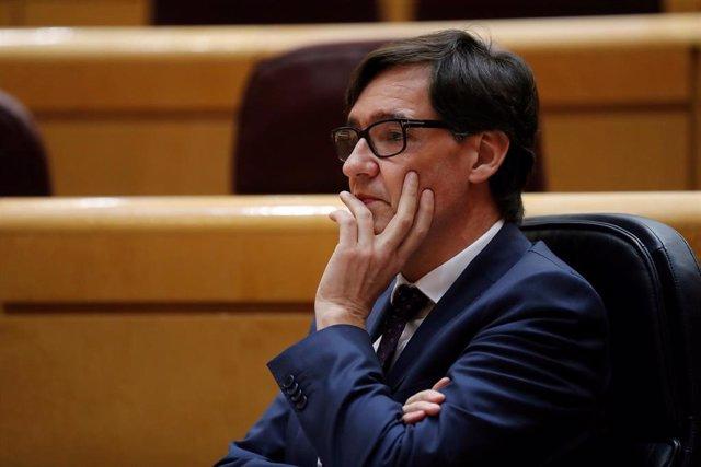 El ministro de Sanidad, Salvador Illa, en el Senado