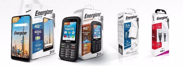 Energizer actualiza la identidad visual de sus teléfonos móviles