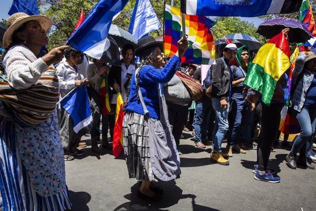 Manifestación a favor del ex presidente boliviano Evo Morales en Cochabamba (Imagen de archivo)
