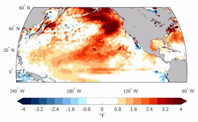 Viento débil explica el calor récord del Pacífico Norte en verano de 2019