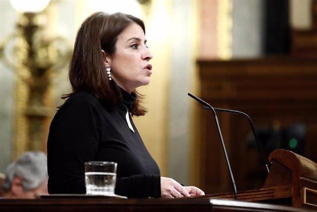 La portavoz parlamentaria socialista, Adriana Lastra.