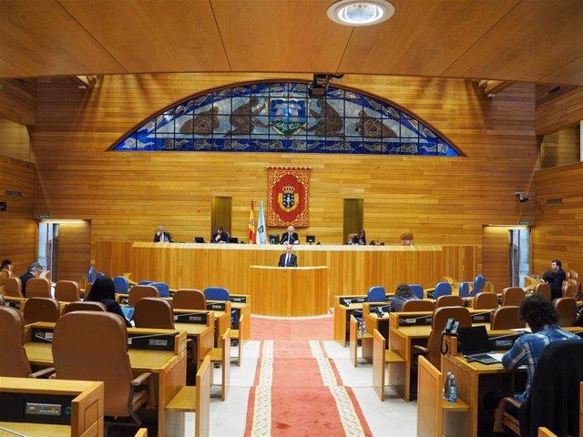 Comparecencia del conselleiro de Sanidade en el Parlamento de Galicia el 22 de abril por la crisis del coronavirus.