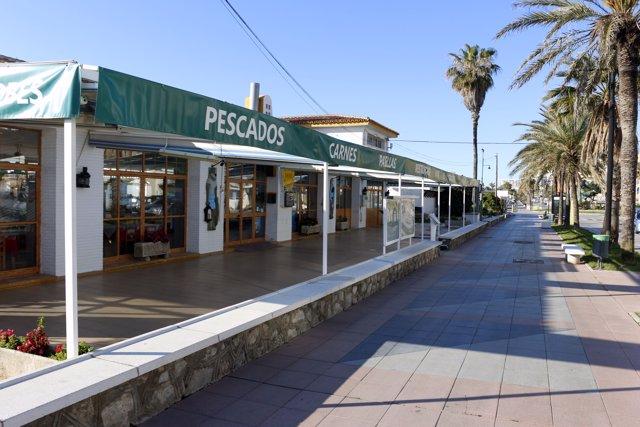 Un negocio en la playa de Torremolinos