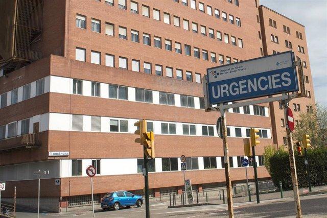 Façana i entrada d'Urgències de l'Hospital Universitari Doctor Josep Trueta de Girona (Arxiu)
