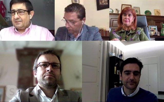 Reunión telemática con los alcaldes de municipios jiennenses de más de 20.000 habitantes
