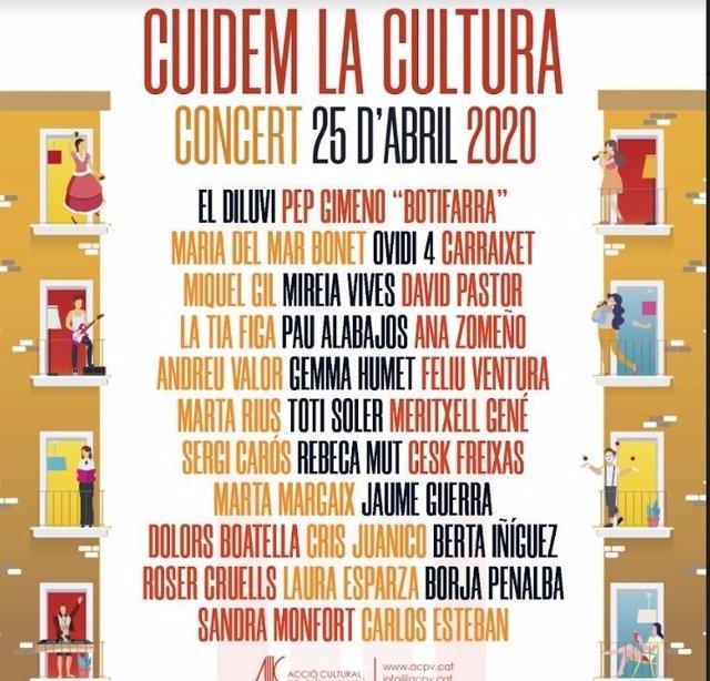 Cartel del concierto del 25 d'abril 2020