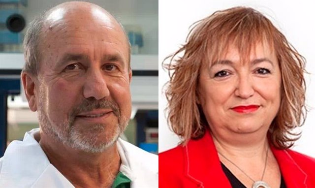 Los investigadores Mariano Esteban y Laura Lechuga