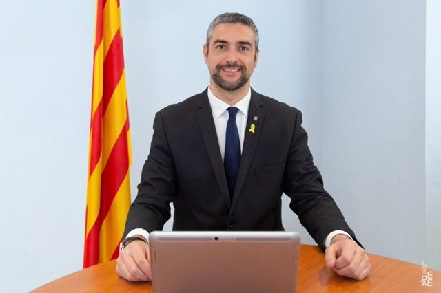 El conseller d'Acció Exterior, Bernat Solé, pren possessió del càrrec de manera telemàtica