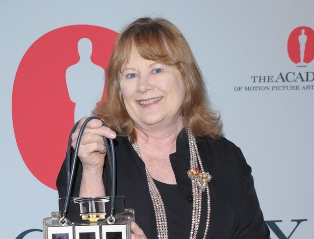 Shirley Knight en una fiesta de los Oscar