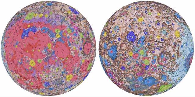Primer mapa geológico unificado de la Luna