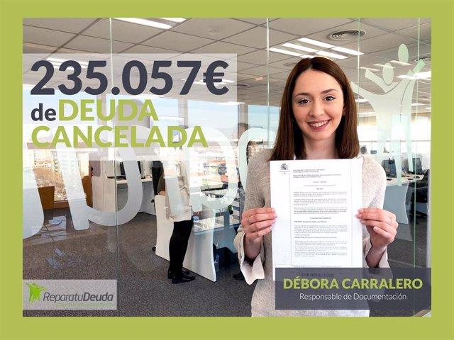 COMUNICADO: Repara tu Deuda cancela deuda pública y 235.057€ con 12 bancos media