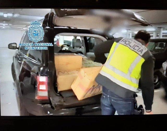 Vehículo interceptado en Algeciras con 300 kilos de hachís