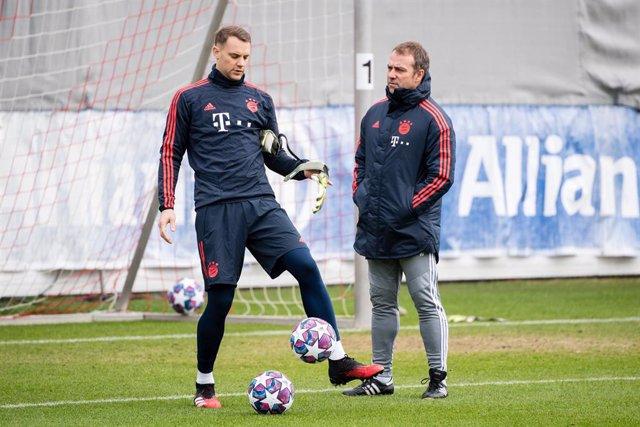 """Fútbol.- Flick: """"Neuer es nuestro número uno indiscutible y Neubel lo sabe"""""""