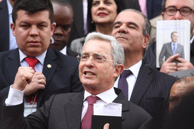 El ex presidente de Colombia Álvaro Uribe (Imagen de archivo)
