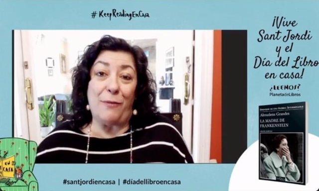 Sant Jordi.- Almudena Grans aprofundeix en el context ?esgarrifós? de la seva última obra