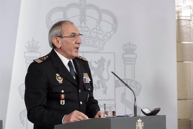 El DAO de la Policía, José Ángel González, durante la rueda de prensa convocada tras la reunión del Comité Técnico de Gestión del COVID-19 en el día 37 del estado de alarma decretado por la crisis del coronavirus, en Madrid (España), a 20 de abril de 2020