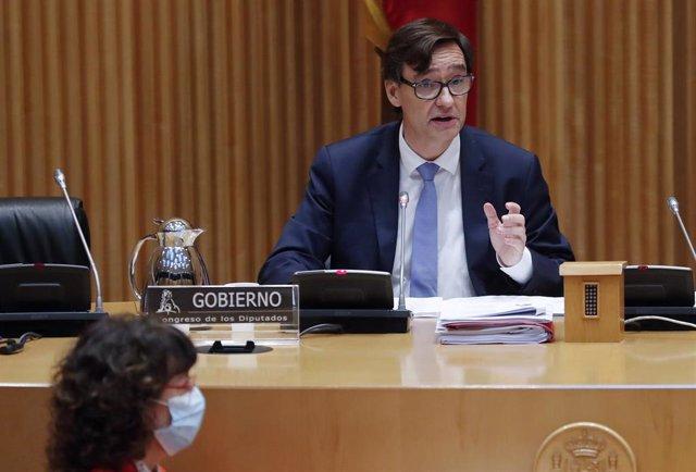 El ministro de Sanidad, Salvador Illa, comparece en el Congreso por quinta vez consecutiva para dar cuenta de la pandemia de coronavirus