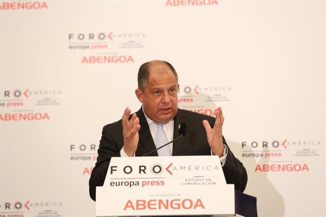 El ex presidente de Costa Rica Luis Guillermo Solís (Imagen de archivo)