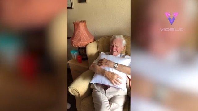 Ken Benbow, de 94 años, en la residencia Thistleton Lodge