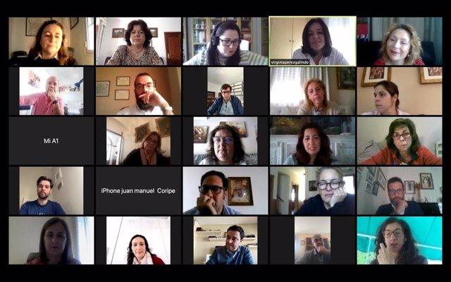Videoconferencia de los dirigentes del PP