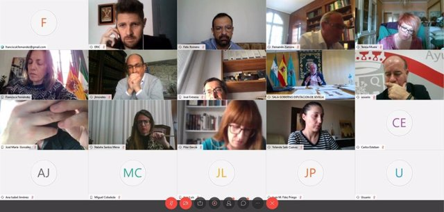 Reunión telemática de Fernando Rodríguez Villalobos con las comisiones de trabajo de la FAMP
