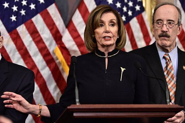 La presidenta de la Cámara de Representantes de EEUU, Nancy Pelosi