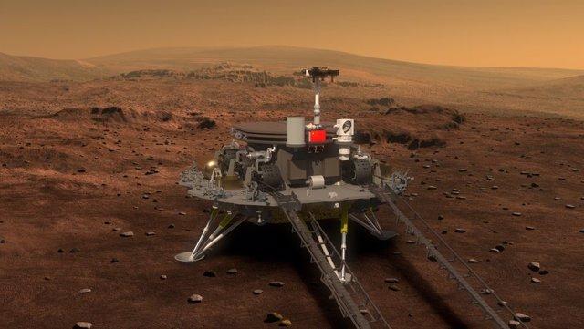 Imagen de concepto de la misión china a Marte