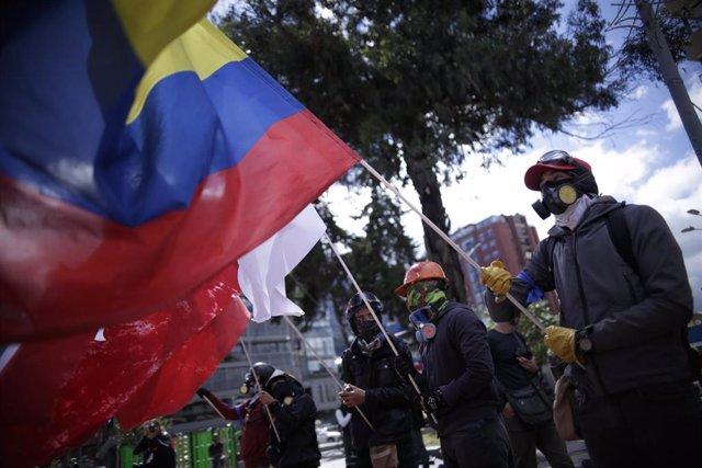 Manifestaciones en Bogotá contra el Gobierno de Iván Duque en Colombia (Imagen de archivo)