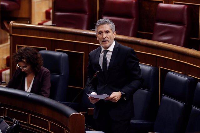 El ministre de l'Interior, fernando Gran- Marlaska.